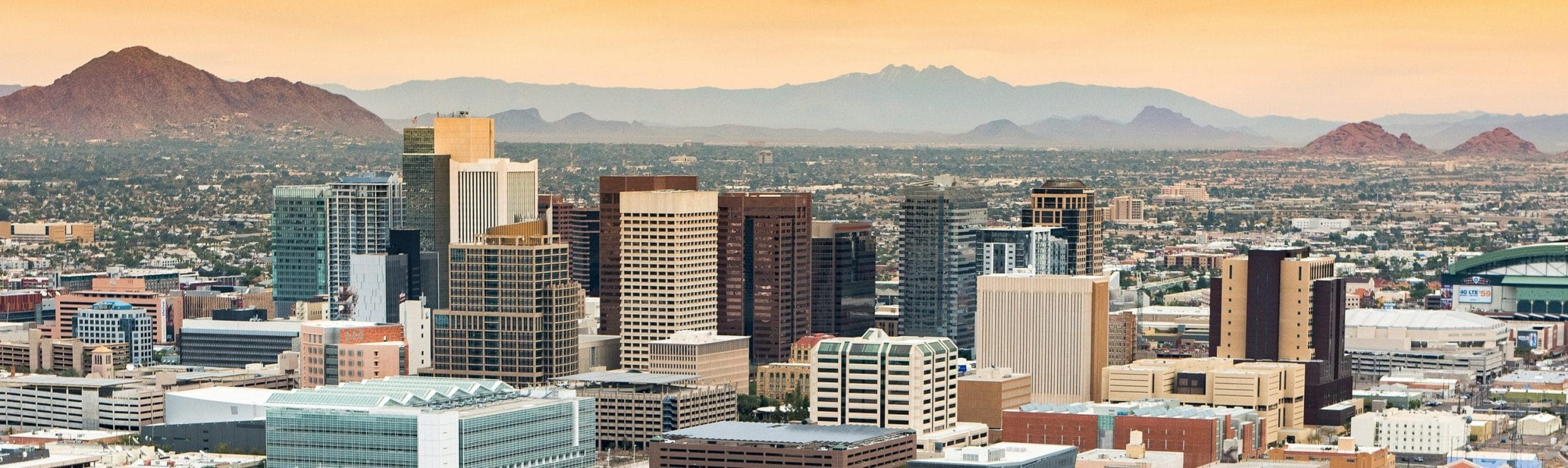 Downtown Phoenix city skyline