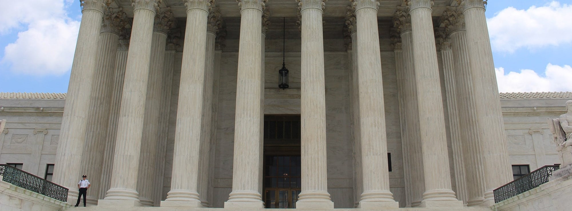 Marble pillars outside of court house